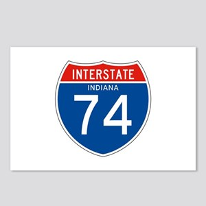 Interstate 74 - IN Postcards (Package of 8)