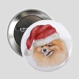 Christmas Pomeranian Button