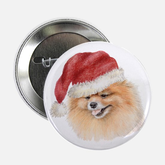Christmas Pomeranian Button