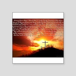 "Morning Prayer Square Sticker 3"" x 3"""