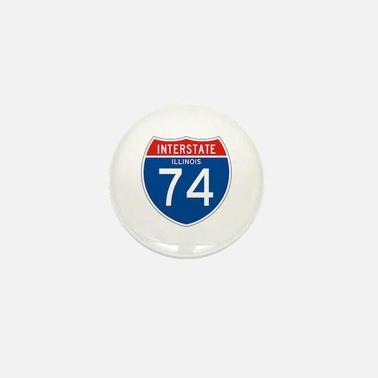 Interstate 74 - IL Mini Button