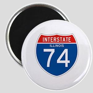 Interstate 74 - IL Magnet
