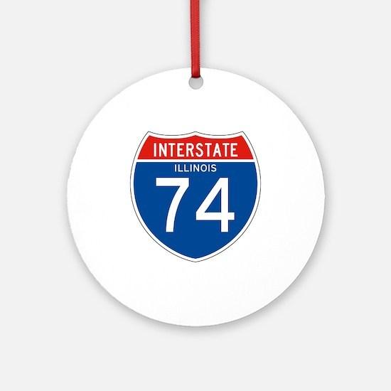 Interstate 74 - IL Ornament (Round)