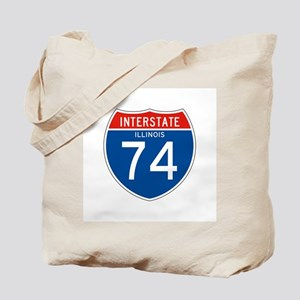 Interstate 74 - IL Tote Bag