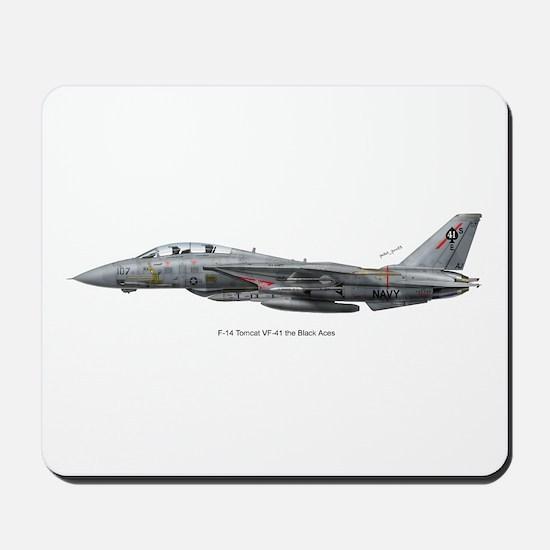 F-14 Tomcat VF-41 Black Aces Mousepad