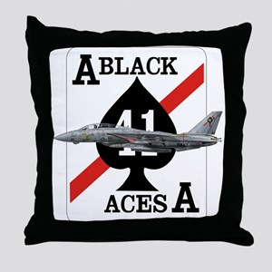 F-14 Tomcat VF-41 Black Aces Throw Pillow