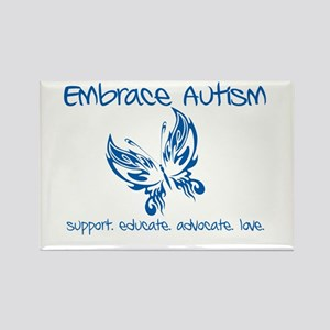 Embrace Autism Butterfly Rectangle Magnet