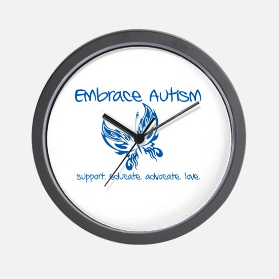 Embrace Autism Butterfly Wall Clock