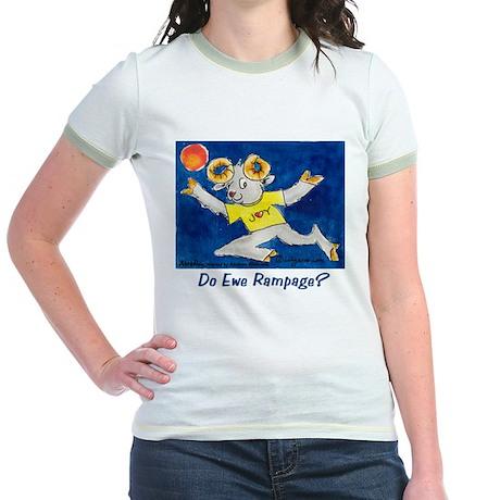 Cute Ram Joy Jr. Ringer T-Shirt