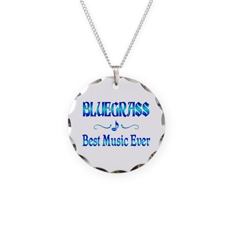 Bluegrass Best Music Necklace Circle Charm