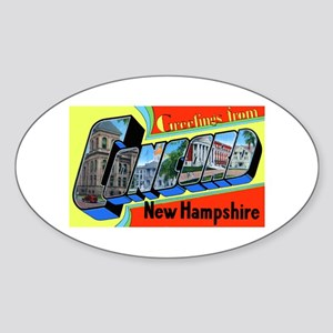Concord New Hampshire Greetings Oval Sticker