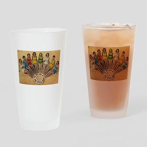 Retro Beach Beauties Drinking Glass