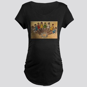 Retro Beach Beauties Maternity T-Shirt