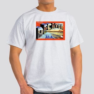 Decatur Alabama Greetings (Front) Ash Grey T-Shirt