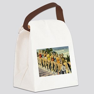 Retro Summer Beauties Canvas Lunch Bag