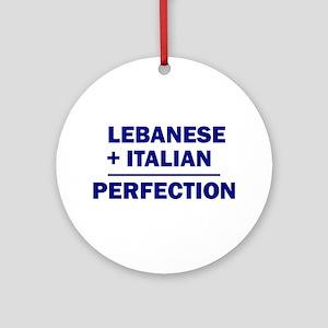 Lebanese + Italian Ornament (Round)