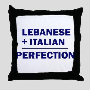 Lebanese + Italian Throw Pillow