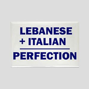 Lebanese + Italian Rectangle Magnet