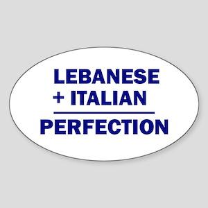 Lebanese + Italian Oval Sticker