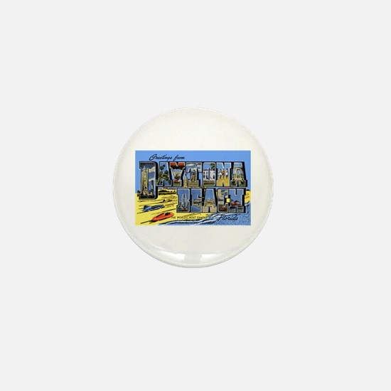 Daytona Beach Florida Greetings Mini Button