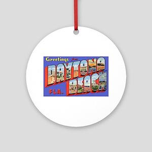 Daytona Beach Florida Greetings Ornament (Round)