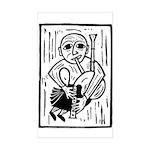 Y Pibydd Du Rectangle Sticker