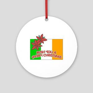 Irish Christmas Ornament (Round)