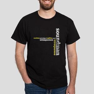 Black Soundman T-shirt (yellow)