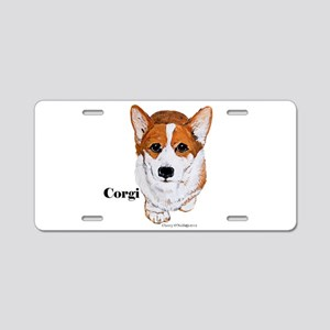Corgi Aluminum License Plate