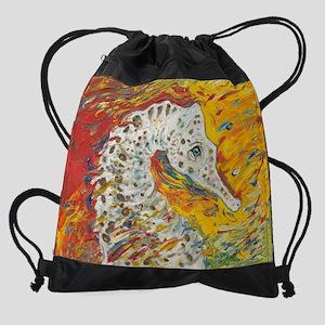 Seahorse 2 Drawstring Bag