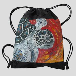 Loggerhead Sea Turtle 5 Drawstring Bag