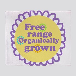 Free Range Organically Grown Throw Blanket