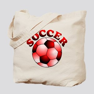 Red Soccer Tote Bag