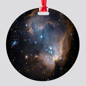 Sleeping Angel Star Cluster Round Ornament