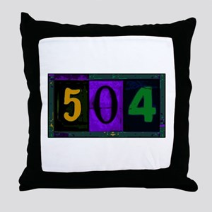 NOLA 504 Throw Pillow