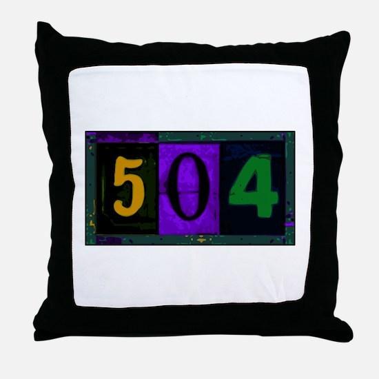 NOLA 504 Throw Pillow