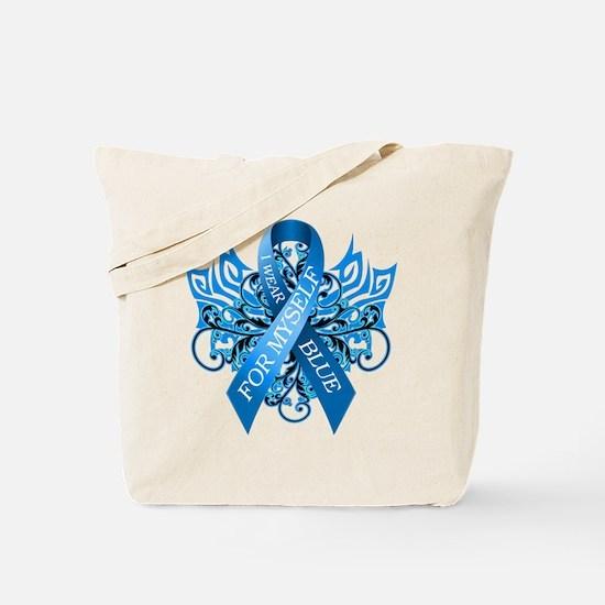 I Wear Blue for Myself Tote Bag