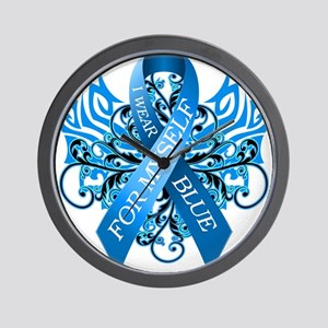 I Wear Blue for Myself Wall Clock