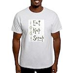 Eat Nap Scrap Ash Grey T-Shirt