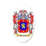 Bennetto Oval Car Magnet