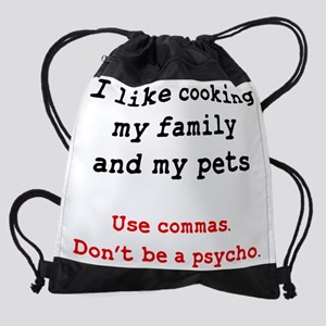 Psycho Grammar Drawstring Bag