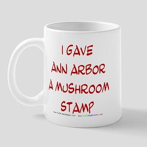 I gave Ann Arbor a Mushroom Stamp Mug