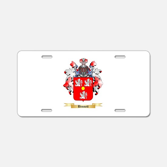 Bennett English Aluminum License Plate
