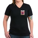 Bennen Women's V-Neck Dark T-Shirt