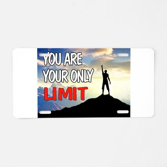 LIMITS Aluminum License Plate