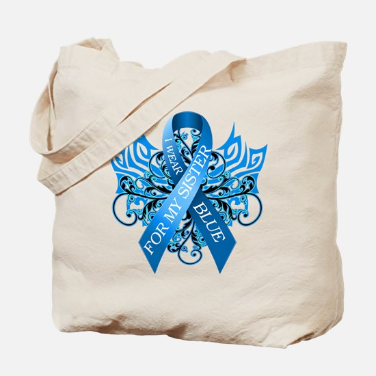 I Wear Blue for my Sister Tote Bag