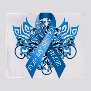 I Wear Blue for my Sister Throw Blanket