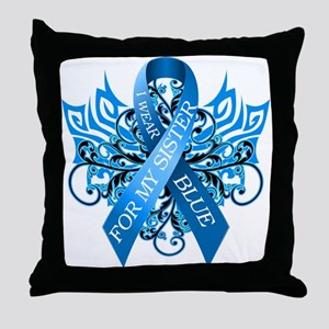 I Wear Blue for my Sister Throw Pillow