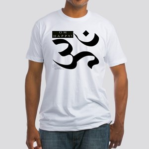 OM HAPPY! Fitted T-Shirt