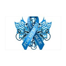 I Wear Blue for my Mom Wall Decal